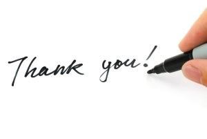 Writing-Thank-you